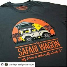 Safari Wagon Roof Top Tent Land Rover T Shirt
