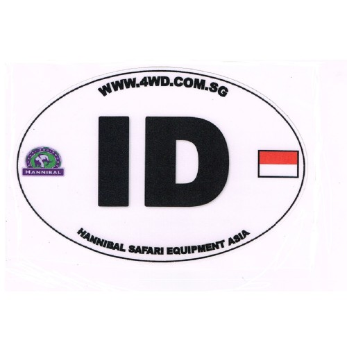 Overland IND Indonesia Oval Country Code Car Sticker