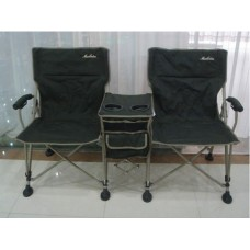 Double Folding Camping Chair with Centre Console